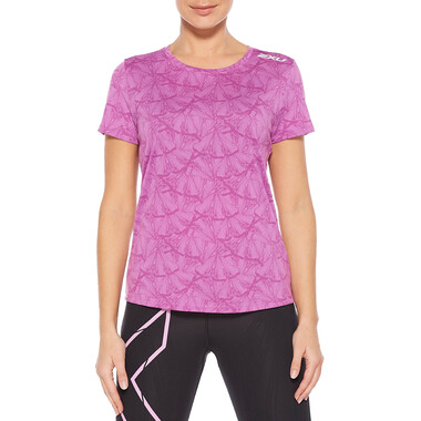T-Shirt 2XU GHST Femme Manches Courtes Rose/Blanc 2021